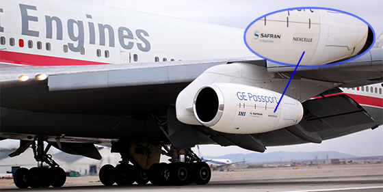 Our nacelle for the Integrated Passport Propulsion System first went airborne earlier this year on GE Aviation's 747 testbed aircraft, logging more than 100 hours aloft. At closer look, you'll see the Nexcelle name is proudly included on the nacelle as a key IPPS supplier.
