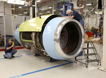 In one of the 2015 highlights for Nexcelle, the first Integrated Passport Propulsion System (IPPS) is assembled at GE Aviation's Peebles Test Operation in Ohio prior to shipment for installation on the no. 1 Bombardier Global 7000 Flight Test Vehicle in Canada.