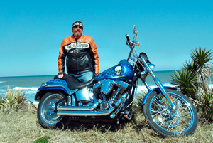 A Harley-Davidson enthusiast for some four decades, Bob Potter currently rides an all-custom painted Softail Deuce.